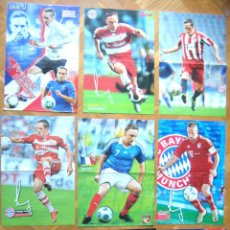 Coleccionismo deportivo: LOTE LOT 9 POSTERS RIBERY BAYERN MUNCHEN MUNICH FRANCE DIFERENTES APROX 42X30 CM. Lote 42771131