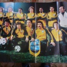 Collectionnisme sportif: GRAN POSTER SELECCION FUTBOL DE BRASIL EN 1978-REVERSO RUBÉN CANO(AT.MADRID)-FOTOS. Lote 42936577