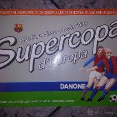 Coleccionismo deportivo: CARTEL POSTER FINAL SUPERCOPA EUROPA 1982 FC BARCELONA VS ASTON VILLA CAMP NOU. Lote 53065315