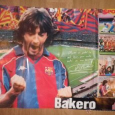 Coleccionismo deportivo: POSTER DE BAKERO - BARCELONA - BARÇA - SPORT. Lote 43381154