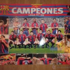 Coleccionismo deportivo: POSTER CAMPEONES LIGA 97 - 98 - BARCELONA - BARÇA - SPORT. Lote 43381302