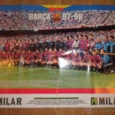 Coleccionismo deportivo: POSTER LIGA 97 - 98 - BARCELONA - BARÇA - SPORT. Lote 43381425