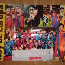 Coleccionismo deportivo: POSTER REY DE EUROPA 1998 UEFA SUPER CUP - BARCELONA - BARÇA - SPORT. Lote 43381468