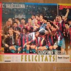 Coleccionismo deportivo: POSTER CAMPEONES RECOPA 96-97 - BARCELONA - BARÇA - SPORT. Lote 43381500