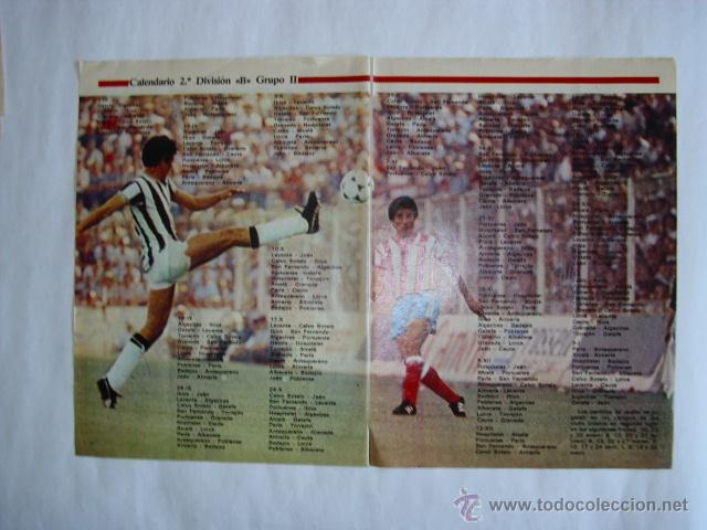 Calendario Segunda B Grupo 1.Hoja Doble Calendario Segunda Division B Grupo Ii Temporada 1982 1983