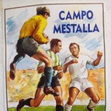 Coleccionismo deportivo: CARTEL FUTBOL GRANDE , VALENCIA CF , REAL BETIS , 1963 , DONAT SAURI , LITOGRAFIA , ORIGINAL, RB. Lote 43459435