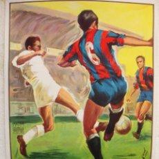 Coleccionismo deportivo: CARTEL FUTBOL GRANDE , VALENCIA CF BARCELONA , MARZO 1963 , DONAT SAURI , LITOGRAFIA , ORIGINAL ,RB. Lote 87397986