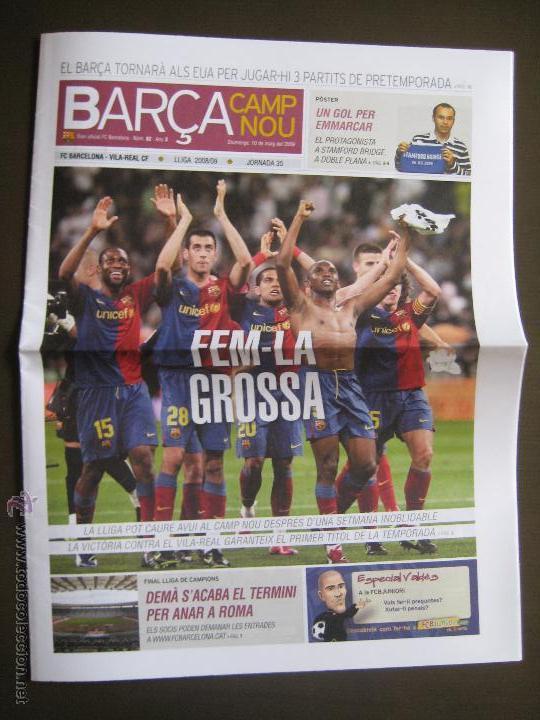 Coleccionismo deportivo: POSTER INIESTA GOL AL CHELSEA CHAMPIONS 2009 - DIARI OFICIAL FC BARCELONA JORNADA 35 BARÇA CAMP NOU - Foto 2 - 43501999