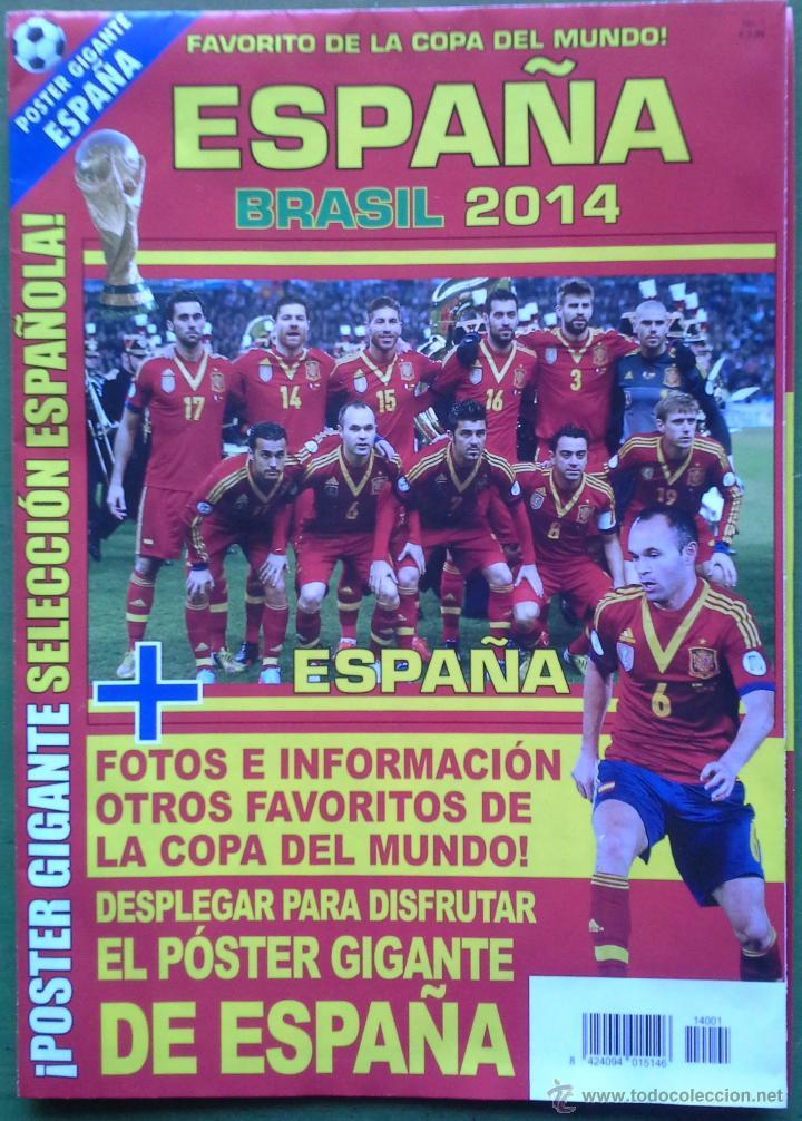Coleccionismo deportivo: POSTER GIGANTE SELECCION ESPAÑOLA CLASIFICACION MUNDIAL BRASIL 2014 ESPAÑA PREVIO COPA DEL MUNDO - Foto 2 - 43825517