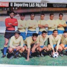 Coleccionismo deportivo: POSTER U.DEPORTIVA LAS PALMAS 1969-70 REVISTA LA ACTUALIDAD 66 X 52. Lote 44027968