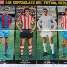 Coleccionismo deportivo: POSTER JUGADORES Nº 4 1969-70 REVISTA LA ACTUALIDAD 66 X 52. Lote 44028464