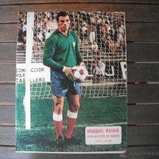 Coleccionismo deportivo: POSTER AS COLOR 1/2 PAGINA . MIGUEL REINA (AT.MADRID). AÑOS 70´.. Lote 44743294