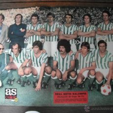 Coleccionismo deportivo: POSTER AS COLOR Nº 313 . REAL BETIS BALOMPIE -CAMPEON DE COPA-. AÑOS 76-77´.. Lote 44744017