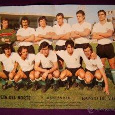 Coleccionismo deportivo: POSTER EQUIPO DE FUTBOL R. SANTANDER. LA GACETA DEL NORTE. TEMPORADA 1972/73. Lote 45124136