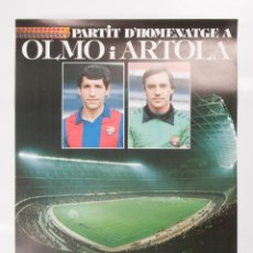 Coleccionismo deportivo: POSTER D'HOMENATGE OLMO I ARTOLA. Lote 45573957