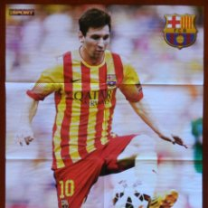 Coleccionismo deportivo: POSTER GIGANTE LEO MESSI (FC BARCELONA) 2014/2015 - BARÇA FUTBOL TEMPORADA 14/15 LIGA ESPAÑA SENYERA. Lote 218514187