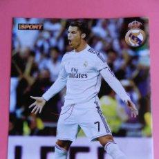 Coleccionismo deportivo: MINI POSTER CRISTIANO RONALDO (REAL MADRID) 2014/2015 - CR7 FUTBOL TEMPORADA 14/15 LIGA ESPAÑA. Lote 205760455
