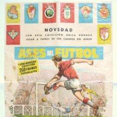 Coleccionismo deportivo: ÚNICO CARTEL POSTER ORIGINAL DEL ALBUM ASES DEL FUTBOL FERMA. 1960-1961. ILUSTRADO POR TOMÁS PORTO. Lote 45837279