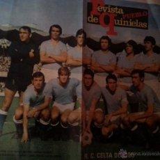 Coleccionismo deportivo: POSTER ORIGINAL FUTBOL REVISTA DE QUINIELAS. CELTA DE VIGO. AÑOS 70. Lote 45877446
