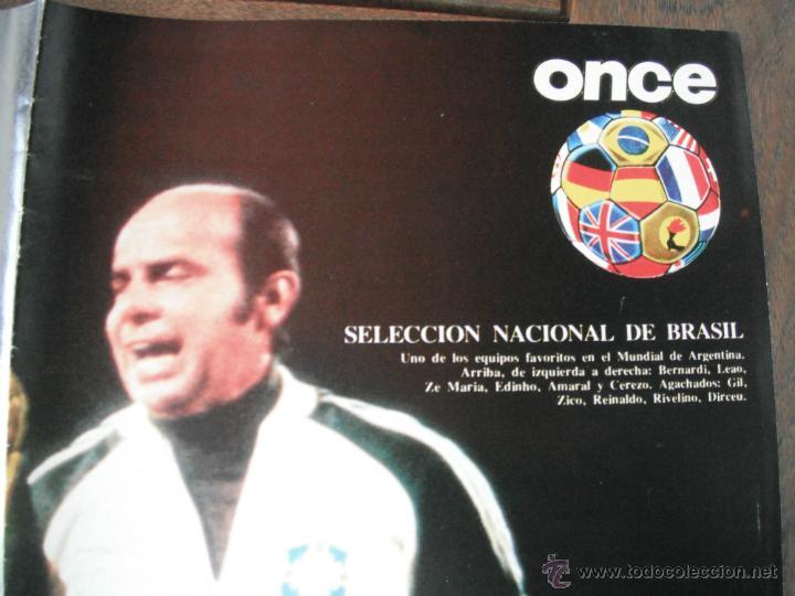 Coleccionismo deportivo: POSTER ONCE. BRASIL. COPA DEL MUNDO ARGENTINA 1978 - Foto 2 - 45999053