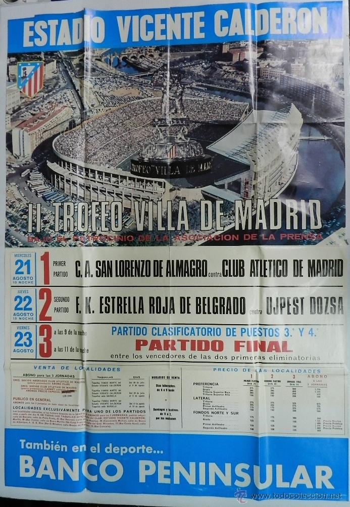 Cartel de futbol, ii trofeo villa de madrid, c. - Vendido en Venta ...
