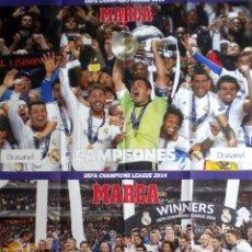 Coleccionismo deportivo: POSTER REAL MADRID CAMPEON DE EUROPA UEFA CHAMPIONS LEAGUE LA DECIMA. Lote 195385853