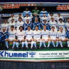 Coleccionismo deportivo: CARTEL REAL MADRID CAMPEÓN LIGA 1986 1987 86 87 GRAN TAMAÑO 97X63 CMS. DIARIO AS.. Lote 46252084