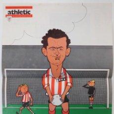 Coleccionismo deportivo: POSTER CARICATURA DEL JUGADOR CANITO AT.BILBAO DECADA 70. Lote 46316146