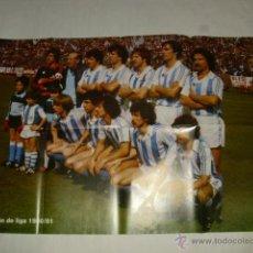 Coleccionismo deportivo: POSTER DOBLE GIGANTE TAMAÑO 85X58 CM - ALINEACION REAL SOCIEDAD TEMPORADA 1980 1981 CAMPEON LIGA . Lote 46334590