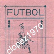 Coleccionismo deportivo: SANTA CRUZ DE MUDELA,1945, CARTELITO PROGRAMA PARTIDO CONTRA EL GIMNASTICO DE ALCAZAR DE SAN JUAN. Lote 46368860