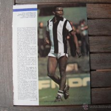 Coleccionismo deportivo: POSTER ONZE 1/2 PAGINA. LAURIE CUNNINGHAM (WEST BROMWICH ALBION). 1979/1980.. Lote 46380310