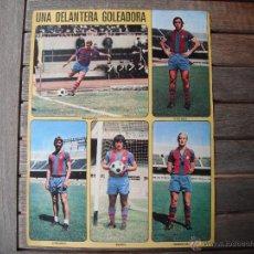 Coleccionismo deportivo: POSTER AS COLOR 1/2 PAGINA. C.F.BARCELONA -UNA DELANTERA GOLEADORA-1973.74. Lote 46426411