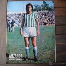 Coleccionismo deportivo: POSTER AS COLOR 1/2 PAGINA. ANZARDA (REAL BETIS BALOMPIE). 1975. Lote 46500102