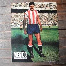 Coleccionismo deportivo: POSTER AS COLOR 1/2 PAGINA. MEGIDO (REAL SPORTING GIJON.). 1973/74. Lote 46501507