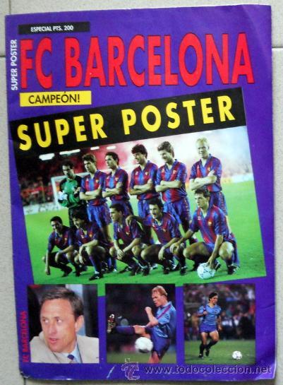 fb041c4c0 2 fotos POSTER FUTBOL FC BARCELONA CRUYFF DREAM TEAM KOEMAN LAUDRUP  FOOTBALL VINTAGE.