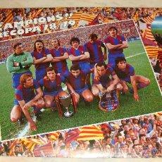 Coleccionismo deportivo - POSTER F C BARCELONA CAMPIONS 78 79 PUBLICIDAD DANONE ESTRELLA DORADA DAMM - 46583567