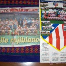 Coleccionismo deportivo: CARTEL CALENDARIO ATLÉTICO MADRID 1989 1990 89 90. REGALO PÓSTER CAMPEÓN 1995 1996 95 96 MARCA.. Lote 46973882