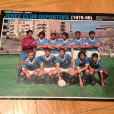 Coleccionismo deportivo: CARTEL POSTER FUTBOL AS COLOR 1979 1980 JEREZ DEPORTIVO XEREZ. Lote 46993992