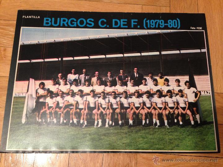 CARTEL POSTER FUTBOL AS COLOR 1979 1980 BURGOS (Coleccionismo Deportivo - Carteles de Fútbol)