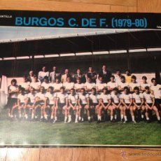 Coleccionismo deportivo: CARTEL POSTER FUTBOL AS COLOR 1979 1980 BURGOS. Lote 46994038