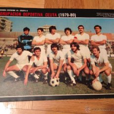 Coleccionismo deportivo: CARTEL POSTER FUTBOL AS COLOR 1979 1980 CEUTA. Lote 46994186