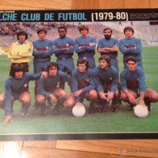 Coleccionismo deportivo: CARTEL POSTER FUTBOL AS COLOR 1979 1980 ELCHE. Lote 46994279