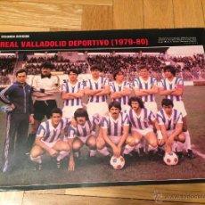 Coleccionismo deportivo: CARTEL POSTER FUTBOL AS COLOR 1979 1980 REAL VALLADOLID. Lote 46994282