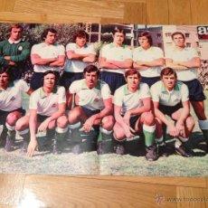 Coleccionismo deportivo: CARTEL POSTER FUTBOL AS COLOR 1974 1975 RACING SANTANDER. Lote 46994307