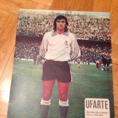Coleccionismo deportivo: CARTEL POSTER FUTBOL UFARTE RACING SANTANDER. Lote 47000403