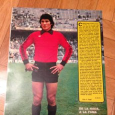 Coleccionismo deportivo: CARTEL POSTER FUTBOL AS COLOR PORTERO FENOY CELTA DE VIGO. Lote 47001133