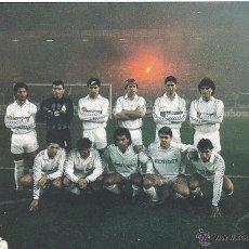 Coleccionismo deportivo: REAL MADRID: RECORTE DE UN EQUIPO DE LA TEMPORADA 89-90. Lote 47008917