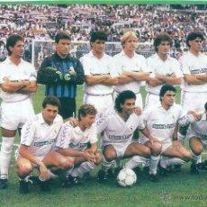 Coleccionismo deportivo: REAL MADRID: RECORTE DE UN EQUIPO DE LA TEMPORADA 89-90. Lote 47008939