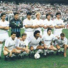 Coleccionismo deportivo: REAL MADRID: RECORTE DE UN EQUIPO DE LA TEMPORADA 89-90. Lote 47008955