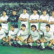 Coleccionismo deportivo: REAL MADRID: RECORTE DE UN POCO HABITUAL EQUIPO DE LA TEMPORADA 89-90. Lote 47008969
